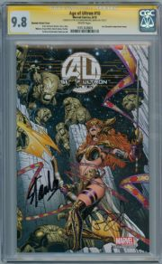 Age Of Ultron #10 Quesada Angela Retail Variant 1:50 CGC 9.8 Signature Series Signed Stan Lee Bendis